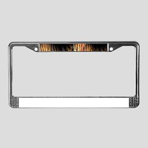 Spike Fractal License Plate Frame