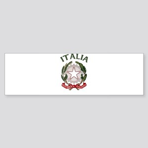 Italia Coat of Arms Bumper Sticker