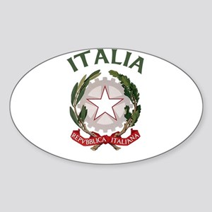 Italia Coat of Arms Oval Sticker