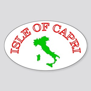 Isle of Capri Oval Sticker