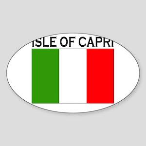 Isle of Capri Oval Sticker
