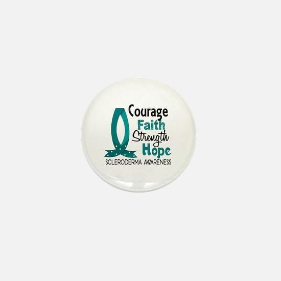 Scleroderma CourageFaith1 Mini Button