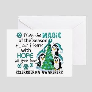 Scleroderma ChristmasPenguins1 Greeting Card