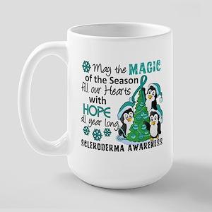 Scleroderma ChristmasPenguins1 Large Mug