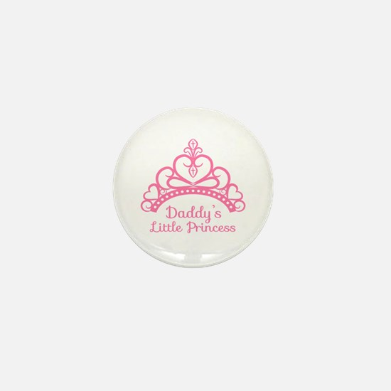 Daddys Little Princess, Elegant Tiara Mini Button