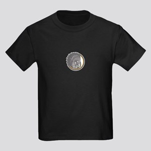 Native American Indian Chief Head Woodcut T-Shirt