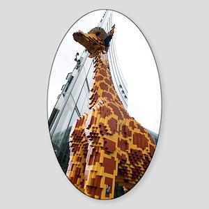 Lego Giraffe, Potsdamer Platz, Berl Sticker (Oval)