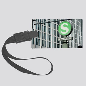 S-Bahn sign for Potsdamer Platz, Large Luggage Tag