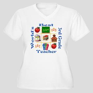 3rd grade Women's Plus Size V-Neck T-Shirt