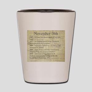 November 18th Shot Glass