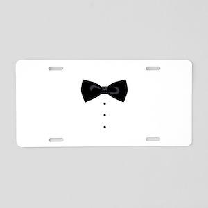 Black Bowtie Groom Gentlemen Aluminum License Plat