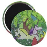 The Unicorns in the deep rainforest Magnet