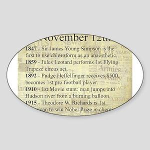 November 12th Sticker