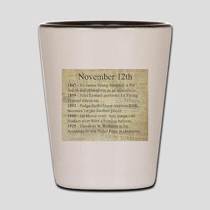 November 12th Shot Glass