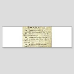 November 11th Bumper Sticker