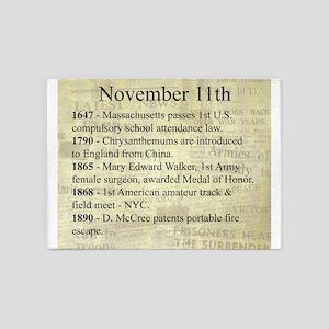 November 11th 5'x7'Area Rug