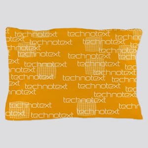 Cool Techno Text Pillow Case