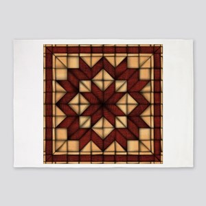 Wooden Quilt 5'x7'Area Rug