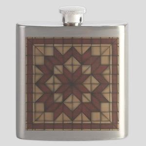 Wooden Quilt Flask