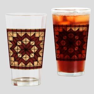 Wooden Quilt Drinking Glass