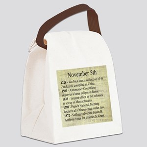 November 5th Canvas Lunch Bag