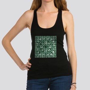 Green Marble Quilt Racerback Tank Top