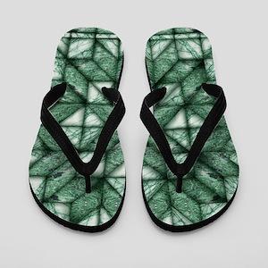Green Marble Quilt Flip Flops