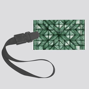 Green Marble Quilt Large Luggage Tag