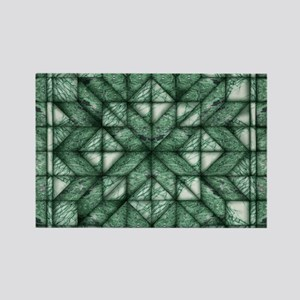Green Marble Quilt Rectangle Magnet