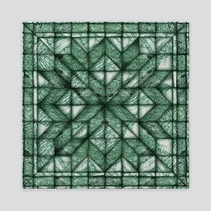 Green Marble Quilt Queen Duvet