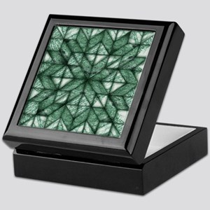 Green Marble Quilt Keepsake Box