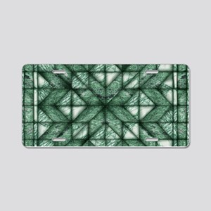 Green Marble Quilt Aluminum License Plate