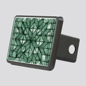 Green Marble Quilt Rectangular Hitch Cover