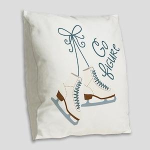 Go Figure Burlap Throw Pillow
