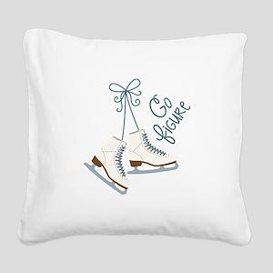 Go Figure Square Canvas Pillow
