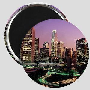 Los Angeles Night Lights Magnets
