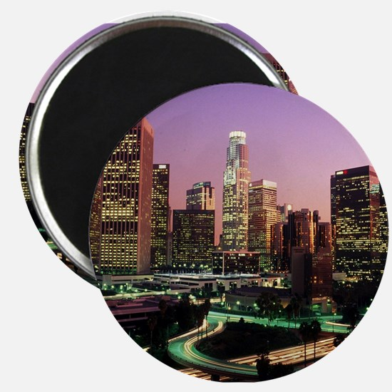 Los Angeles Night Lights Magnets