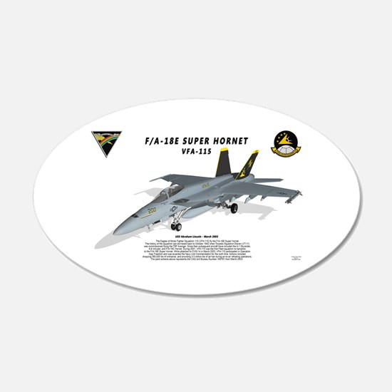 F/A-18E VFA-115 with shadow Wall Decal