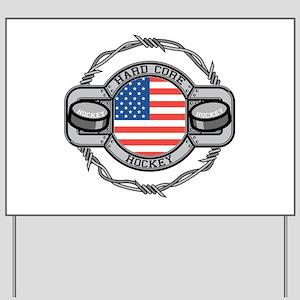 USA Hard Core Hockey Yard Sign