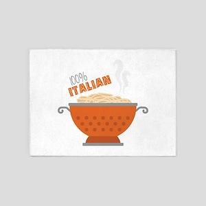 100% Italian 5'x7'Area Rug
