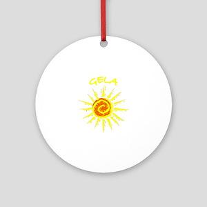 Gela, Italy Ornament (Round)
