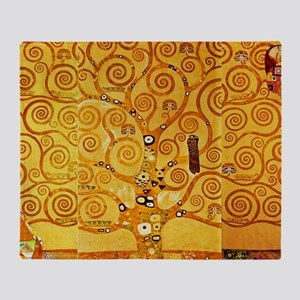 Gustav Klimt Tree of Life Art Nouveau Throw Blanke