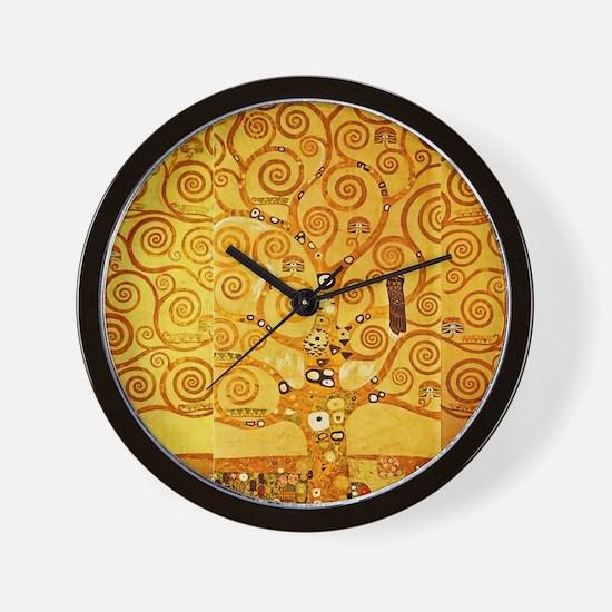 Gustav Klimt Tree of Life Art Nouveau Wall Clock