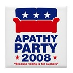 Apathy Party 2008 Tile Coaster