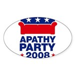 Apathy Party 2008 Oval Sticker