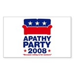 Apathy Party 2008 Rectangle Sticker