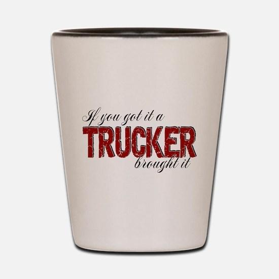 If You Got It, a Trucker Brought It Shot Glass