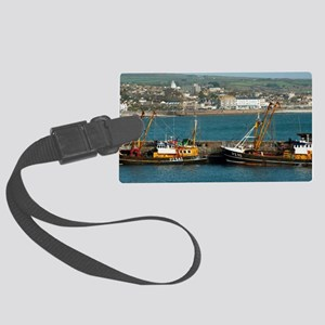 Newlyn harbour Large Luggage Tag