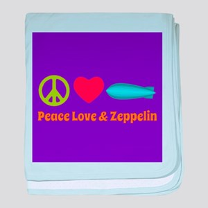 Peace Love & Zeppelin baby blanket