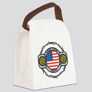 USA Hard Core Darts Canvas Lunch Bag